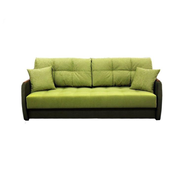 малогабаритный диван кровать с узкими подлокотниками