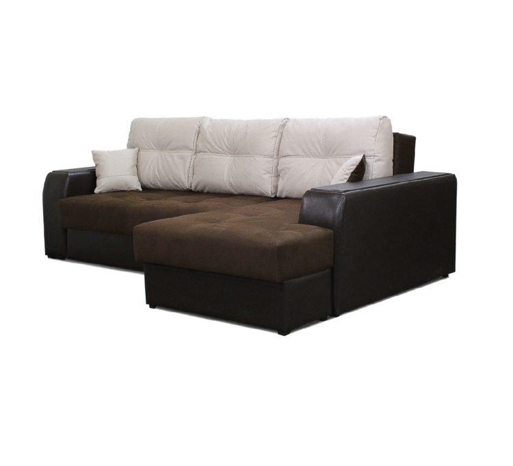 угловой диван с ящиками в подлокотниках