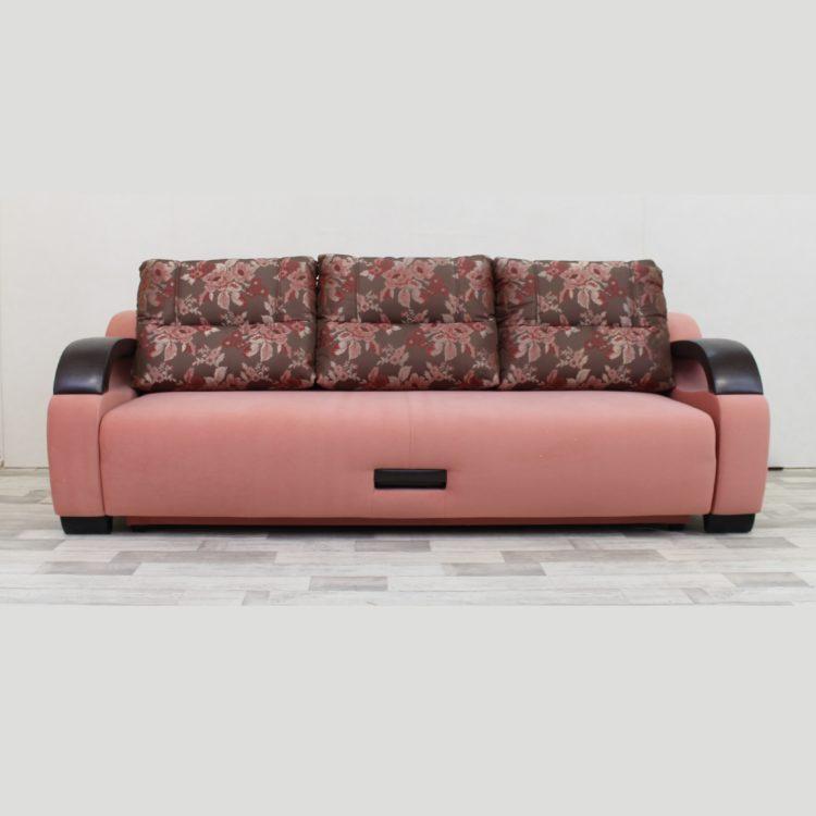 диван - кровать прямой на НПБ тик-так ящик для белья