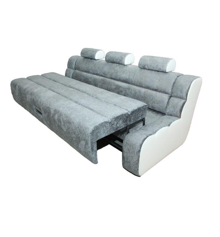 серебристый диван