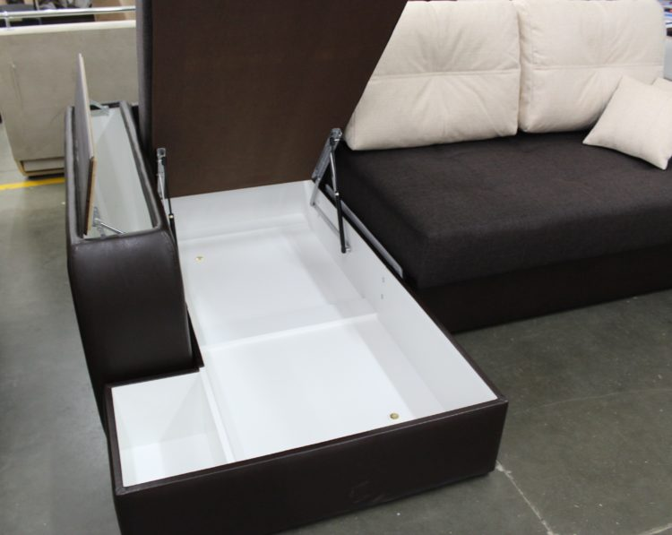 ящики для белья в угловом диване