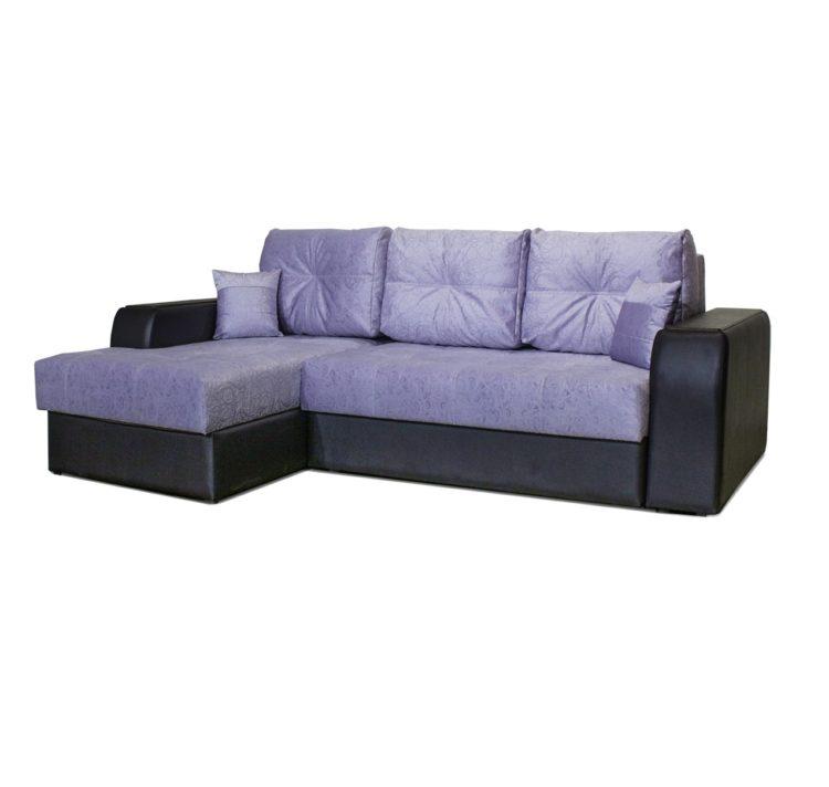 угловой большой диван с ящиками в подлокотниках